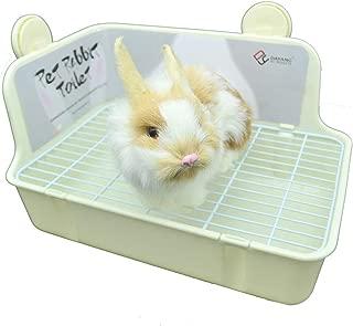 WYOK Potty Trainer Corner Litter Box Pet Pan Bedding Small Animal, Rabbit Hamster Guinea Pig Ferret Gerbil Chinchilla