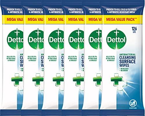 Dettol (versione in lingua inglese), salviettine antibatteriche per superfici, 756 pezzi