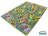 HEVO Stadt Land Fluss Teppich | Kinderteppich | Spielteppich 145x200 cm