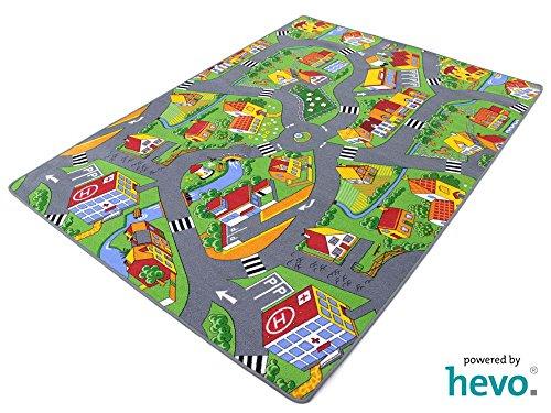 HEVO Stadt Land Fluss Teppich | Kinderteppich | Spielteppich 200x300 cm