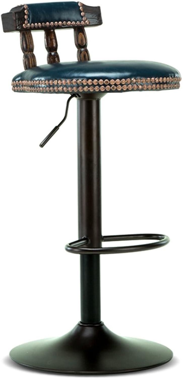 Ghjkl Bar Chair-bar Chair Lift bar Stool Retro high Stool American bar Stool Home Bedroom Stool (Multicolor Optional) -by TIANTA (color   bluee)