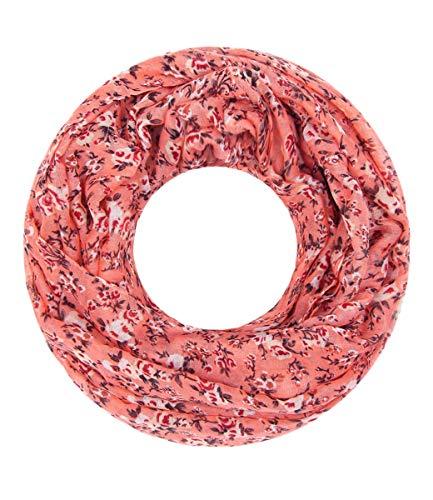 Majea Loop - Blumen, peach <p>Schals Tücher Loop Schlauchschal Rundschal Scarf, weiches Material, gute Qualität</p><p> </p> Damen Artikel-Nr.151624