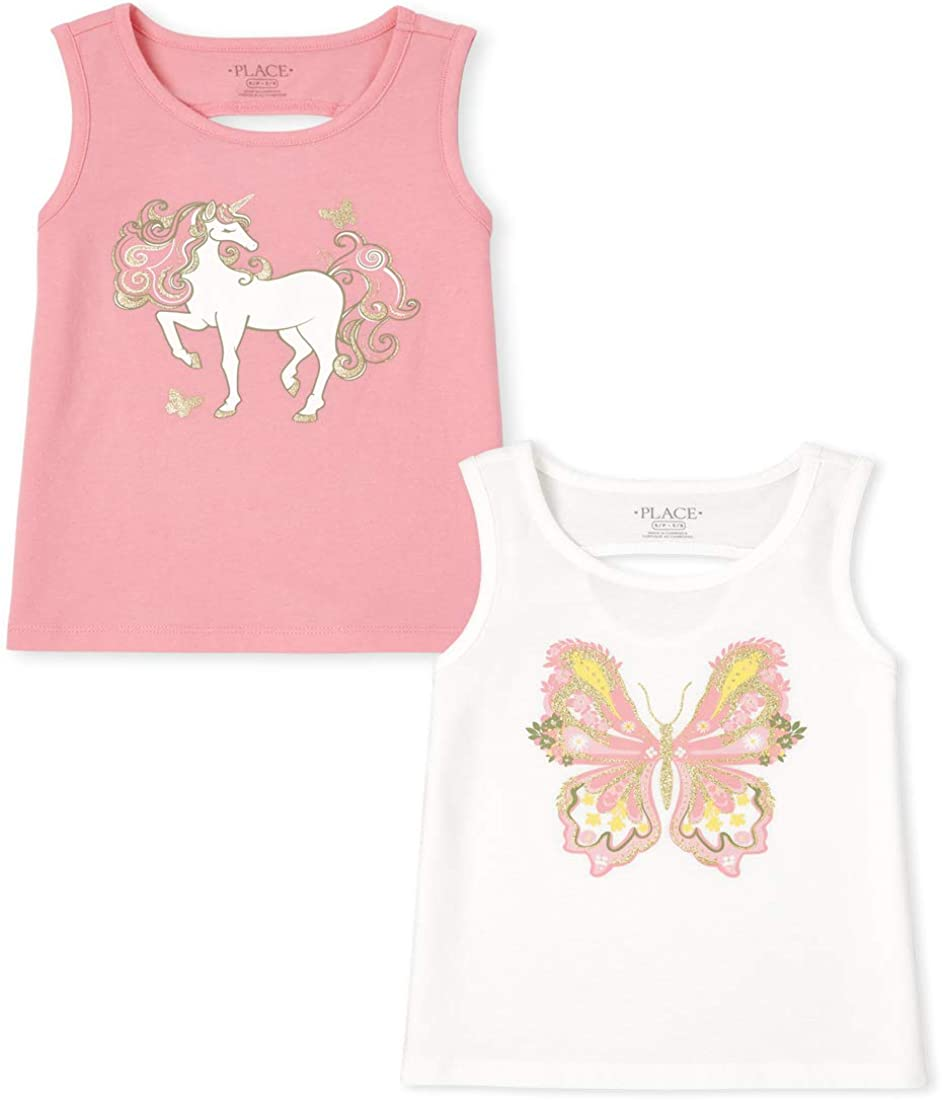 The Children's Place Girls' Graphic Pack Tank Matchable Tops Max 58% OFF Houston Mall of