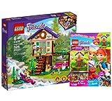 Collectix Lego Friends 41679 - Set de casa del árbol en el bosque y cuaderno Lego Friends n.º 5 (misterio, póster, cómics), incluye bolsa de plástico Lego Ardilla