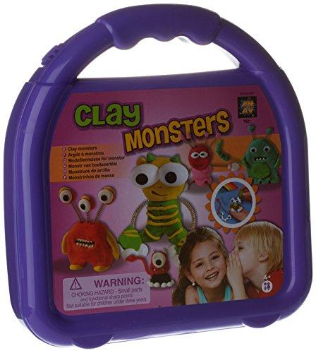 Mosa-import - 27621 - Kit De Loisirs Créatifs - Coffret Monster Clay