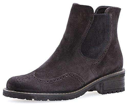 Gabor Damenschuhe 76.091.39 Damen Stiefeletten, Boots, Stiefel, in Comfort-Mehrweite, mit Reißverschluss Grau (Dark Grey (Mel.)), EU 4.5