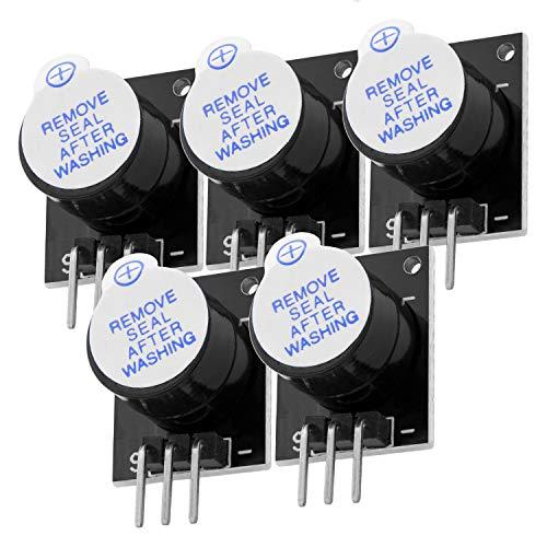 AZDelivery 5 x KY-012 Active Piezo Buzzer Speaker Alarm Module Breakout Board for Arduino including eBook