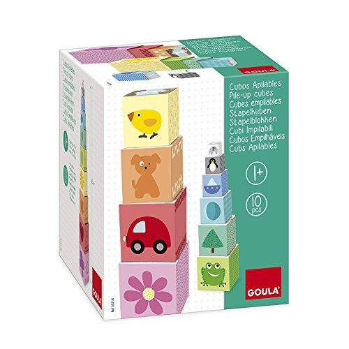 Goula - Cubos apilables de cartón , cartón números, 50 cm
