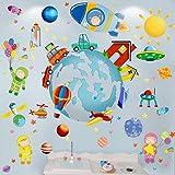 Zoom IMG-1 cartoon moon boy wall sticker