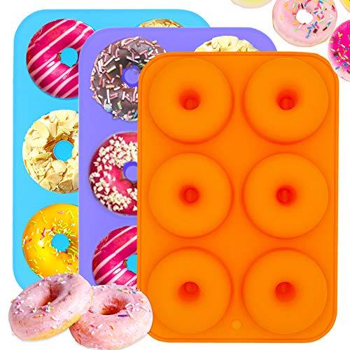 IHUIXINHE NO 2-Paket Silikon Muffinform Muffin Sonnenblume Blume Muffinförmchen Kuchen Dessert Cup Cake Pudding Gelee Mini Formenset Kuchenformen Cupcake Form Backform (Krapfen)