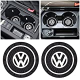 for VW Car Interior Accessories Cup Holder Insert Coaster - Silicone Anti Slip Cup Mat Compatible with for VW Jetta Polo Tiguan Beetle Golf GTI/R/MK6 5 Santan Passat Sharan Key Fob Case