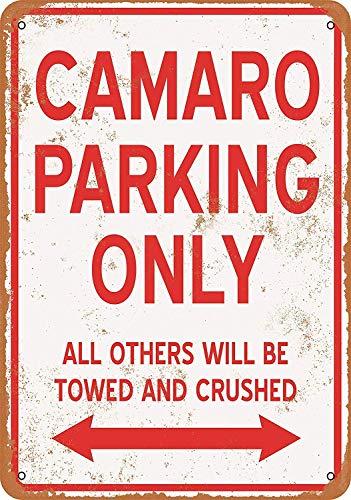 Fluse Camaro Parking Only Vintage Metal Art Chic Retro Blechschild 8X12 Zoll Metallschilder