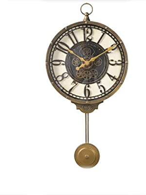 リビングルームクリエイティブウォールクロックウォールチャート現代ホームパーソナリティクロックリビングルームベッドルームファッション装飾時計メタルレトロ時計シンプルなスタディルームクロック