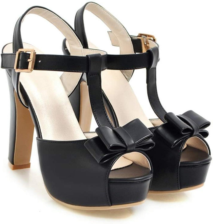 Women Platform High Heel Sandals T-Strap Bow Tie Ladies Sweet shoes Sexy Party Dress Footwear