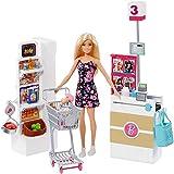 Barbie Muñeca vamos al supermercado, accesorios muñeca (Mattel FRP01)