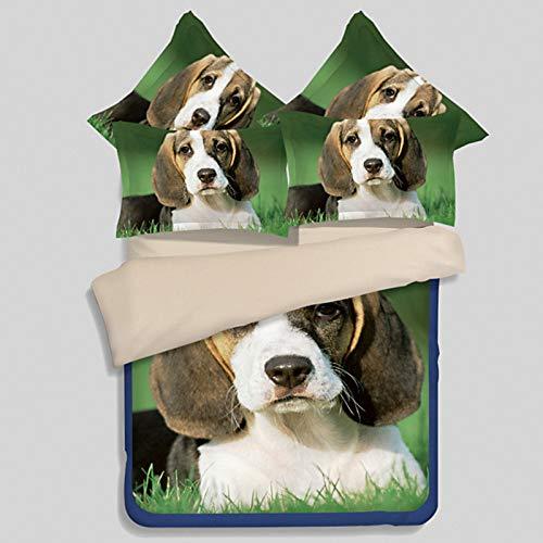 Hllhpc Bedding vierdelig dier hond print dekbedovertrek