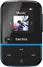 SanDisk 32GB Clip Sport Go MP3 Player, Blue - LED Screen and FM Radio - SDMX30-032G-G46B (Renewed) photo