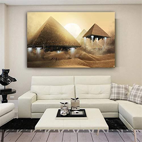 wtnhz DIY-Digitale Zeichnung Schwimmende Pyramiden Ägypten DIY Hand Painted Digitale Malerei Einzigartige Dekoration Geschenk DIY-Besitz für Erwachsene und Kinder