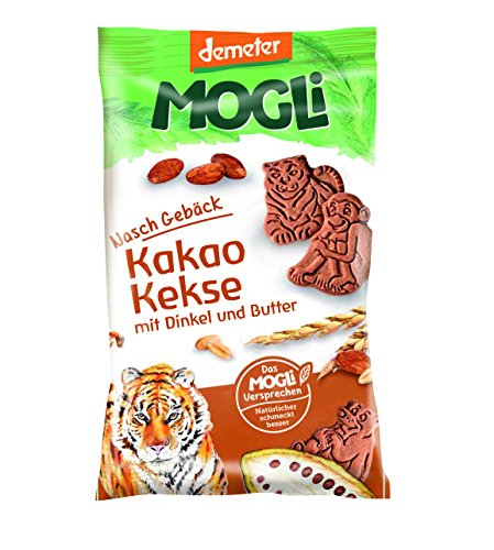 MOGLi Bio Demeter Kakao Dinkel Kekse 50g 12er Pack (12x50g)