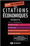 Petit dictionnaire des citations économiques