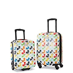 Telescopic steel tube trolley handle adjusts to user's height Interior divider panel with two organization pockets and elastic cross straps Under seater: in-line skate wheels Carry on: four, multidirectional spinner wheels Expansion on carry on case ...