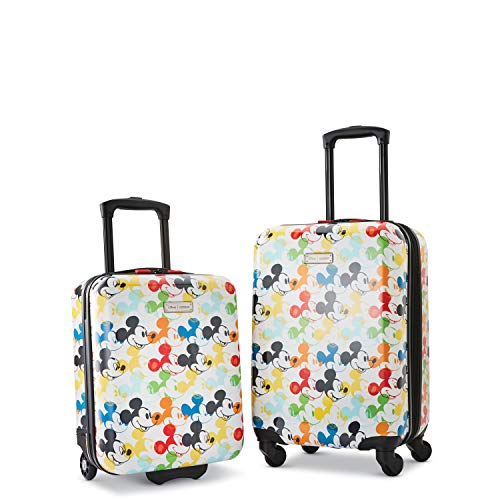 American Tourister Disney Hardside Luggage with Spinner Wheels, Mickey Mouse 2,...