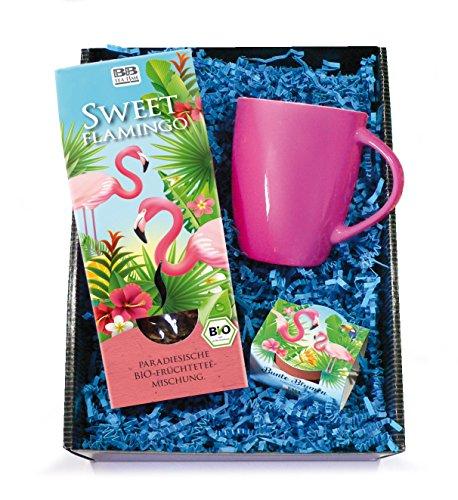 Tee-Geschenkset Sweet Flamingo