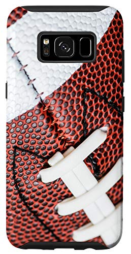 Galaxy S8 Football Pattern Real Football Design Sports Fan Gift Phone Case