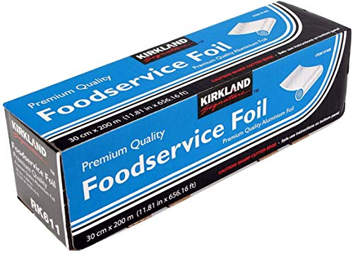 """Kirkland, Premium Quality Food Service Aluminium Foil, Silver, Size 30cm x 200metres (11.81"""" x 656.16 ft.)"""