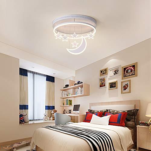 FGAITH Moderne led-plafondlamp, creatief licht, eenvoudige camera geborsteld licht, Stella Luna geschikt voor de kleuterschool, gang, kinderen in huis