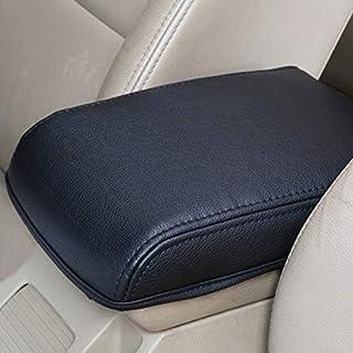 Zidao Car Armrest Pillow Universal Comfortable Soft Memory Cotton PU Leather Car Armrest Cushion Centre Console Head Neck Support Pillow for Car Vehicle
