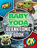 Baby Yoda Blank Comic Book: Let's Draw, Color And Have Fun With This Item In The Way Your Want.