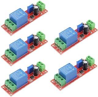 XLX 5PCS 12V NE555 0-10 Seconds Delay Module Constant Current RegulatorHigh Power High Efficiency TimerDelay on Monostab...