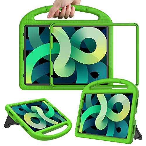 Surom Kids Case with Built-in Screen Protector for New iPad Air 4th Generation 10.9 Inch 2020, Light Weight Shockproof Handle Stand Protective Case for 2020 iPad Air 4 10.9/iPad Pro 11, Green