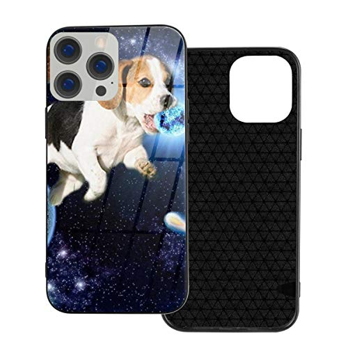 RTBB Iphone 12 Glass Case 3D Dog Outer Space Planet Flexible Soft Tpu Protection Back Toughened Glass Protective Shockproof Cover Cases For Iphone 12/12 Pro/12 Mini/12 Pro Max