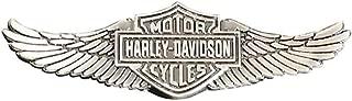 Harley-Davidson Men's Bar & Shield Wings Pin, Zinc Alloy Finish, Silver P339066