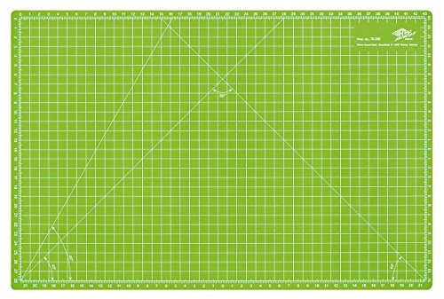 Wedo Cutting Mat - Esterilla para corte, 450 x 300 x 3 mm, color verde manzana
