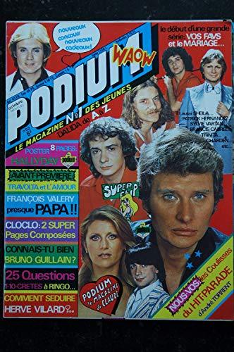 PODIUM n° 92 Claude François Hallyday Travolta Hervé Vilard Sheila - Posters voir détail - 1979 10