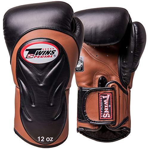 Twins Boxhandschuhe, Premium, BGVL-6, schwarz-braun Größe 14 Oz