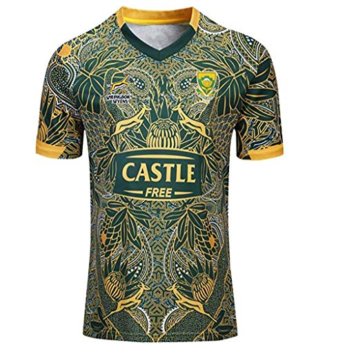 TT377 Sports Team Südafrika, Rugby Jersey,Springboks, Sportswear 100-jähriges Jubiläum.
