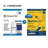 Microsoft 365 Family 12+3 Monate | 6 Nutzer | Mehrere PCs/Macs, Tablets & mobile Geräte | Download...