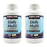 Kirkland oOikr, Daily Multi Vitamins & Minerals 500 Count (Pack of 2)