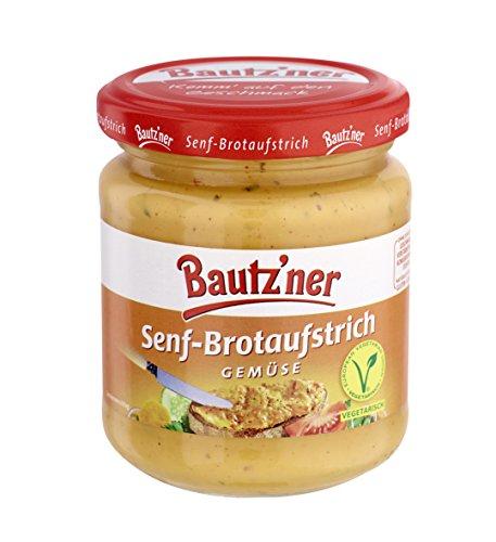 BAUTZ'NER Senf Brotaufstrich Gemüse, 6er Pack (6 x 200 ml)