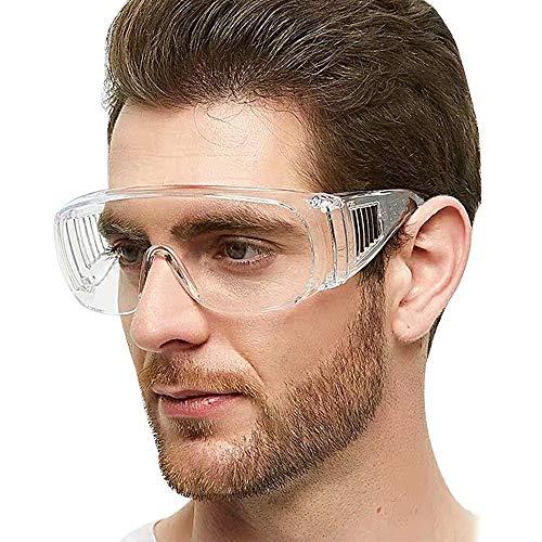Caseeto 保護メガネ ゴーグル 防護めがね 透明ゴーグル 業務用ゴーグル 軽量化 高透過率 飛沫/風/砂ホコリ防止 近視眼鏡着用可 男女兼用 防塵 調整可能 頑丈 耐久性抜群