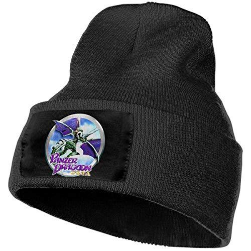 haoqianyanbaihuodian Cappelli da uomo e da donna Panzer Dragoon Orta Skull Beanie Cappelli invernali Berretti lavorati a maglia Cappello da sci caldo e morbido Nero