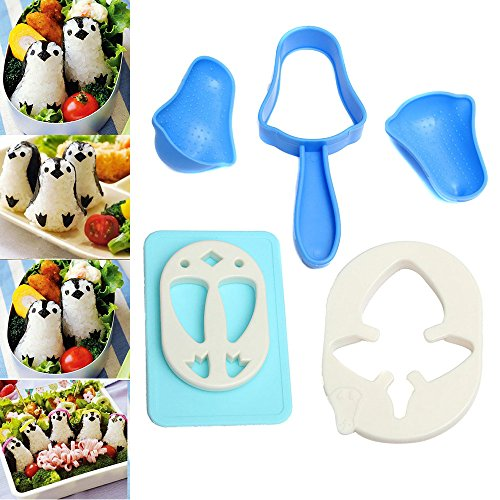 lzndeal Sushi Maker Mould Sandwich Rice Ball Mold Cute Penguin DIY Bento Cake Kitchen Tool