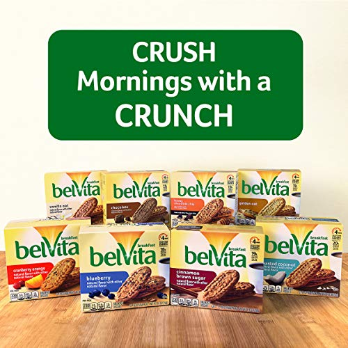 belVita Breakfast Biscuits, Vanilla Oat Flavor, 5 Packs (4 Biscuits Per Pack)