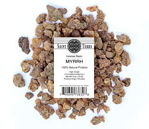 Saint Terra - Gum Myrrh Incense Resin (High Grade), 8 Ounces