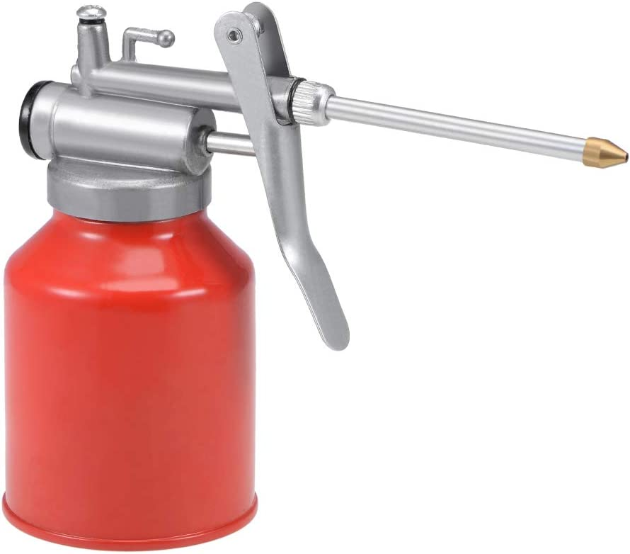 uxcell Sale item Oil Can Pump Oiler Pressure Super popular specialty store 250ML High Metal Lubric