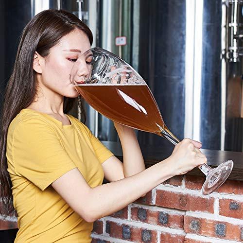 Copa de vino Gigante de Gran tamaño de Cristal Vino Tinto Copa de Cristal Extra Grande 3000ml Proyecto de Cerveza de Cristal Rojo Grande Gran Capacidad HMLIFE (Color : B)